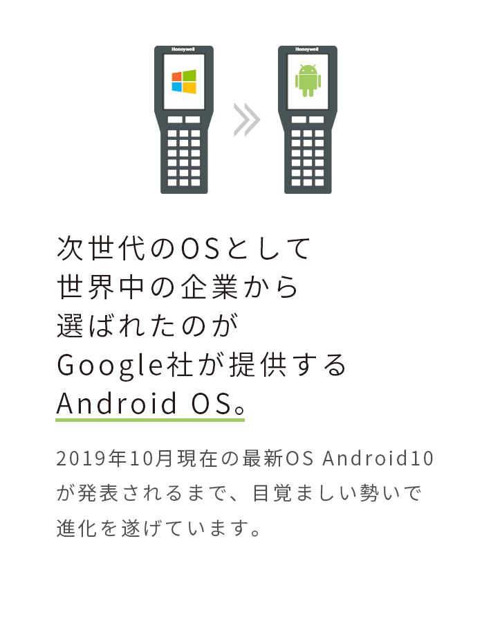 次世代のOSとして世界中の企業から選ばれたのがGoogle社が提供するAndroid OS。2019年10月現在の最新OS Android10が発表されるまで、目覚ましい勢いで進化を遂げています。