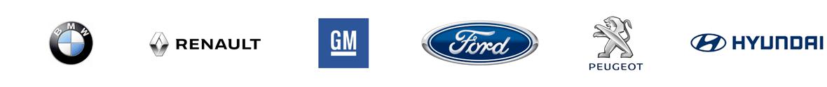 BMW, RENAULT, GM, Ford, PEUGEOT, HYNDAI